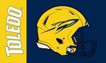 Toledo Rockets 3' X 5'  Football Helmet Flag