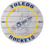 Toledo Rockets Retro Rocket Weathered Circle