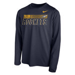 NIKE 2020 SIDELINE LEGEND LS YOUTH TEE NAVY -S