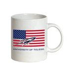 University of Toledo American Flag Coffee Mug