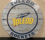 Toledo Rockets Weathered Circle Plaque