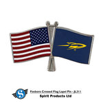 SG260 SPIRIT DOUBLE FLAG LAPEL PIN