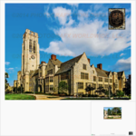 University of Toledo University Hall Bell Tower Large 8.5x11 Scenic Print