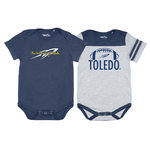 GARB INFANT ONESIE TWO PACK 0-3 MONTHS