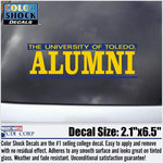University of Toledo Alumni Car Decal