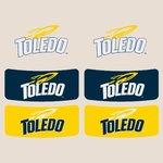 University of Toledo Spirit Temporary Face Stickers