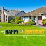 """CDI YARD BANNER HAPPY BIRTHDAY 14' X 18"""""""