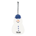 Toledo Snowman Christmas Ornament