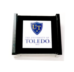 University of Toledo Four Pack Glass Coaster Gift Set w/ Holder