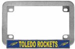 University of Toledo Chrome Metal Motorcycle License Plate Frame