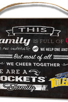 Toledo Rockets Family Cheer Small Plaque