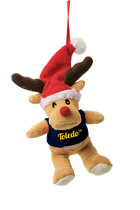 Toledo Plush Reindeer Ornament