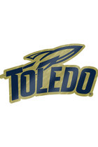 Gold Plated Toledo Rockets Sport Logo Lapel Pin