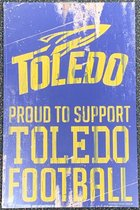 Toledo Proud Sport Logo Wood Sign