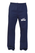 JERZEES NUBLEND SWEATPANTS SPORT LOGO NAVY -S