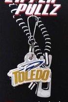 University of Toledo Mirrored Back Zipper Pull