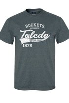 MV SPORT AMERICAN THREAD ROCKETS AUTHENTIC TEE CHARCOAL -S