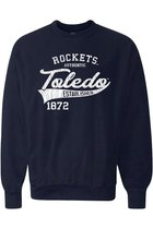 MV SPORT AMERICAN THREAD ROCKETS AUTHENTIC LS TEE NAVY -S