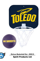 Toledo Rockets Mini Basketball Hoop w/Ball