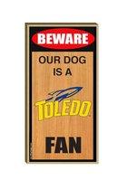 University of Toledo Wooden Dog Sign
