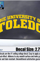 University of Toledo Arched Decal