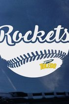 Toledo Rockets Baseball Decal