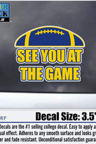 University of Toledo Color Shock See You at the Game Decal