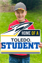 "CDI YARD SIGN HOME OF A TOLEDO STUDENT 22"" X 19"""