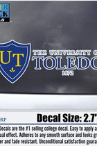 University of Toledo Decal Shield 1872