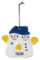 Toledo Double The Fun Snowman Ornament