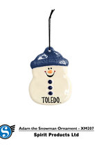 SG363 SPIRIT SNOWMAN ORNAMENT ADAM