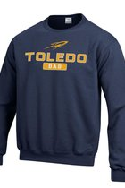 University of Toledo Champion Powerblend Fleece Dad Crew Neck