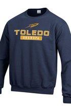 University of Toledo Champion Powerblend Fleece Grandpa Crew Neck