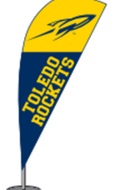 University of Toledo Mini Desktop Feather Flag