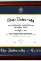 University of Toledo Bachelor's Diploma Frame -Scholar