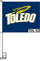 University of Toledo Durawave Car Window Flag