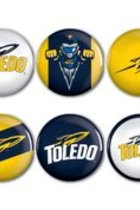 Toledo Rockets 6 Pack Spirit Buttons