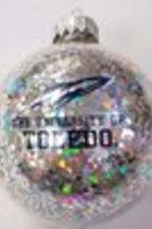 University of Toledo Glitter Glass Ornament