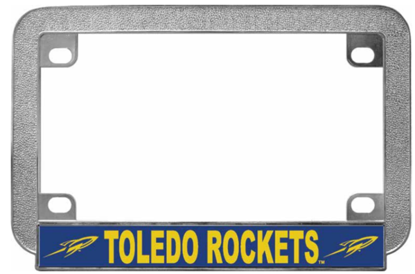 University of Toledo Chrome Metal Motorcycle License Plate Frame ...